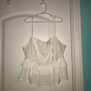 Forever 21 White Top with Orange Dots
